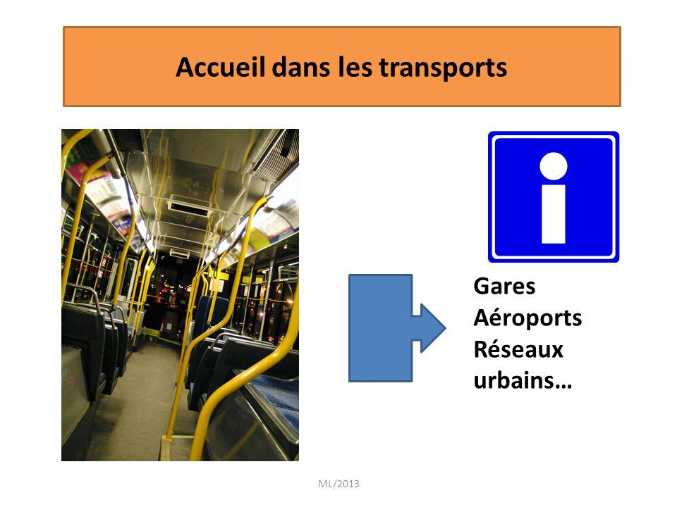 ML/2013 Gares Aéroports Réseaux urbains… Accueil dans les transports