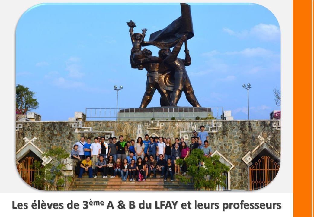 Les élèves de 3 ème A & B du LFAY et leurs professeurs