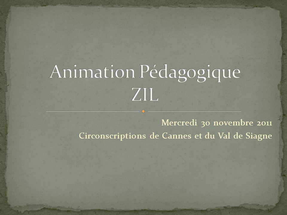Mercredi 30 novembre 2011 Circonscriptions de Cannes et du Val de Siagne