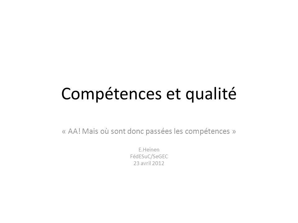 Compétences et qualité « AA.
