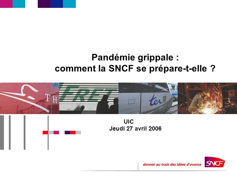 Pandémie grippale : comment la SNCF se prépare-t-elle UIC Jeudi 27 avril 2006