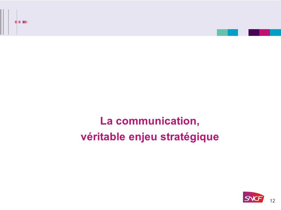 12 La communication, véritable enjeu stratégique
