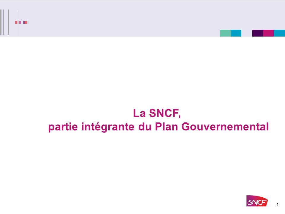 1 La SNCF, partie intégrante du Plan Gouvernemental