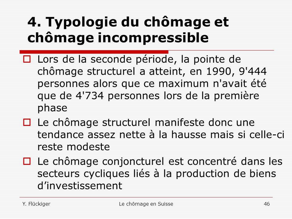 Y. FlückigerLe chômage en Suisse45 4. Typologie du chômage et chômage incompressible Pour mesurer toute l'ampleur et toute l'importance des problèmes
