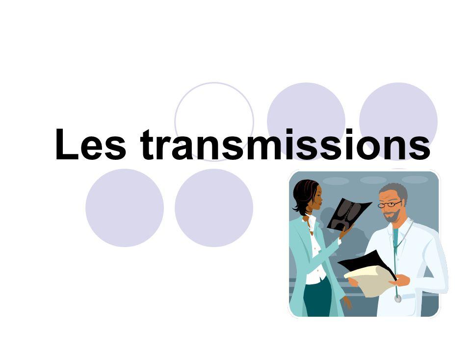 LA TRANSMISSION OBJECTIVE La donnée peut être subjective lorsquelle est décrite par le patient lui-même en relation avec ce quil ressent ou perçoit exemple : la douleur, sensation dengourdissement, picotement, prurit, hallucinations, faiblesse… Il faut alors se fier à la description que vous fait le patient et commencer votre transmission par: « le patient dit » ( ressentir des picotements, par exemple).