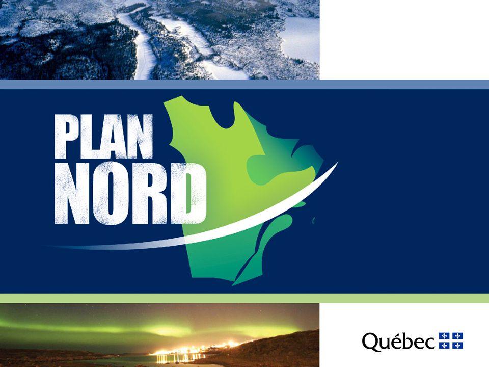 Le développement hydroélectrique du Nord québécois Près de 30 000 MW déjà installés sur le territoire couvert par le Plan Nord –76 % de la puissance installée des grandes centrales hydroélectriques du Québec Les projets du portefeuille de 4 500 MW de la Stratégie énergétique 2006-2015 sont situés à 97 % sur le territoire couvert par le Plan Nord –dont le chantier La Romaine –100 000 emplois (années-personnes) –25 G$ dinvestissements 12