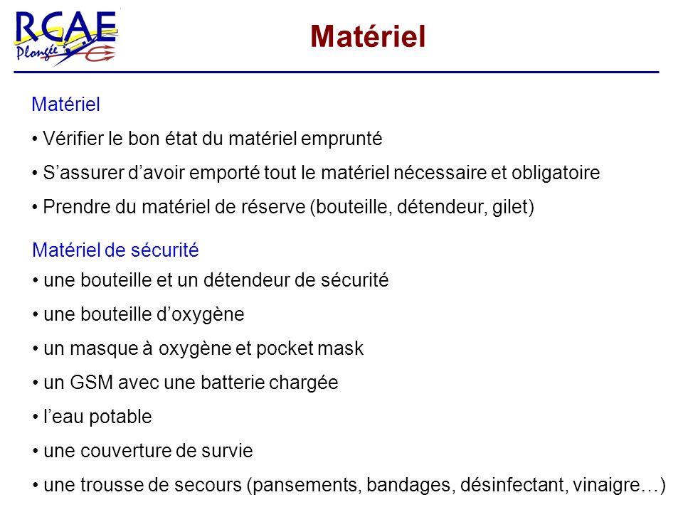 Matériel Vérifier le bon état du matériel emprunté Sassurer davoir emporté tout le matériel nécessaire et obligatoire Prendre du matériel de réserve (