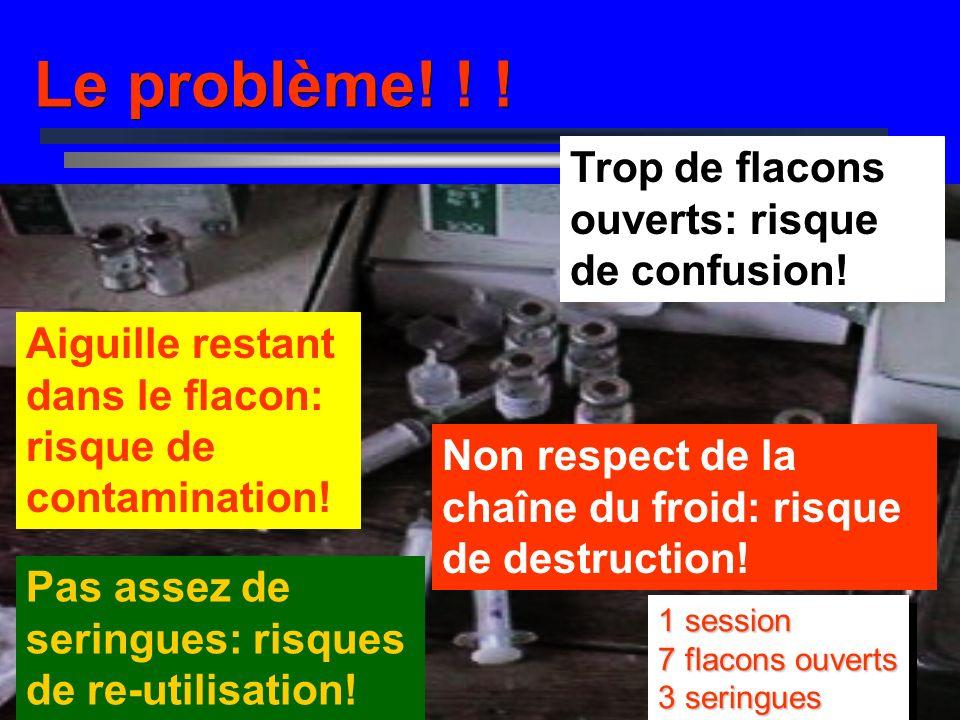 La Sécurité des injections. COURS MOYEN SUR LA GESTION DU PEV Saly, Sénégal 1 Nov -12 Nov 2004