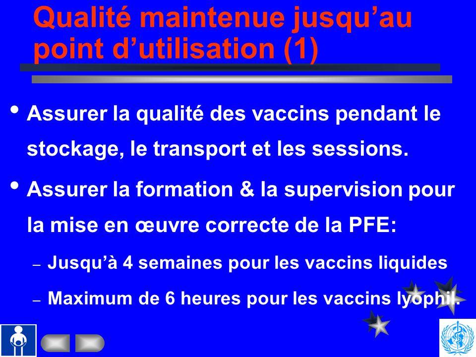 Vaccins de qualité (2): Fonctions dune ANR Sources des vaccins Agence NU AchèteProduit Fonctions recommandées Enregistrement Pharmacovigilan Libératio