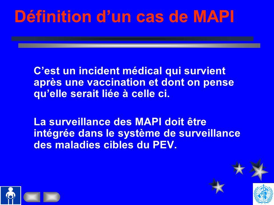 Saly, Sénégal 1-12 Nov 2004. Manifestations Post- vaccinales Indésirables (MAPI) Sécurité des injections Saly, Sénégal 1-12 Novembre 2004