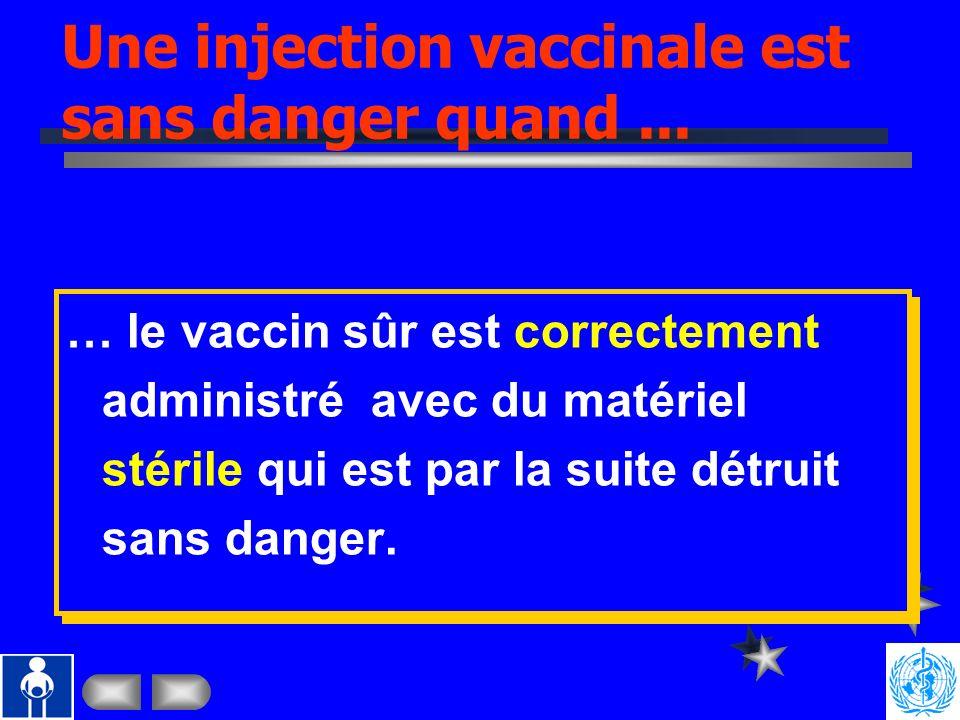 n Le nombre dinjections augmente: Nouveaux vaccins Campagnes de masse avec vaccins injectables n Les Manifestations Adverse Post Immunisation (MAPI) a