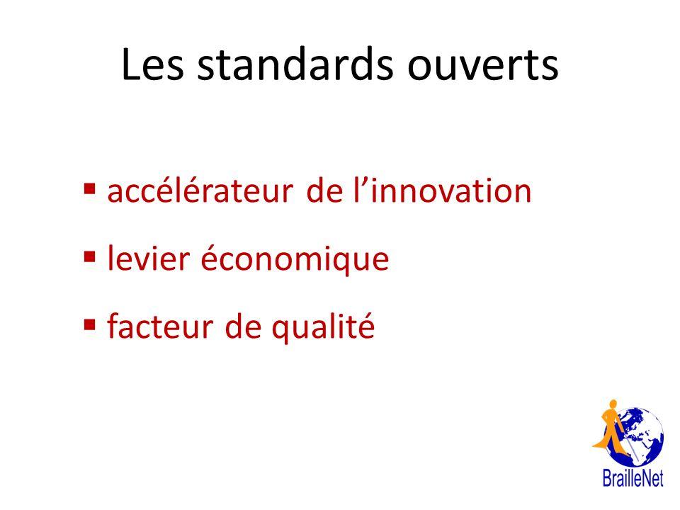 Les standards ouverts accélérateur de linnovation levier économique facteur de qualité