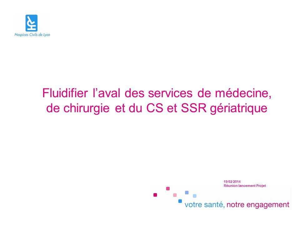 19/02/2014 Réunion lancement Projet Fluidifier laval des services de médecine, de chirurgie et du CS et SSR gériatrique