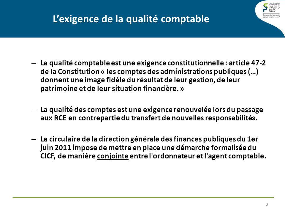 – La qualité comptable est une exigence constitutionnelle : article 47-2 de la Constitution « les comptes des administrations publiques (…) donnent un