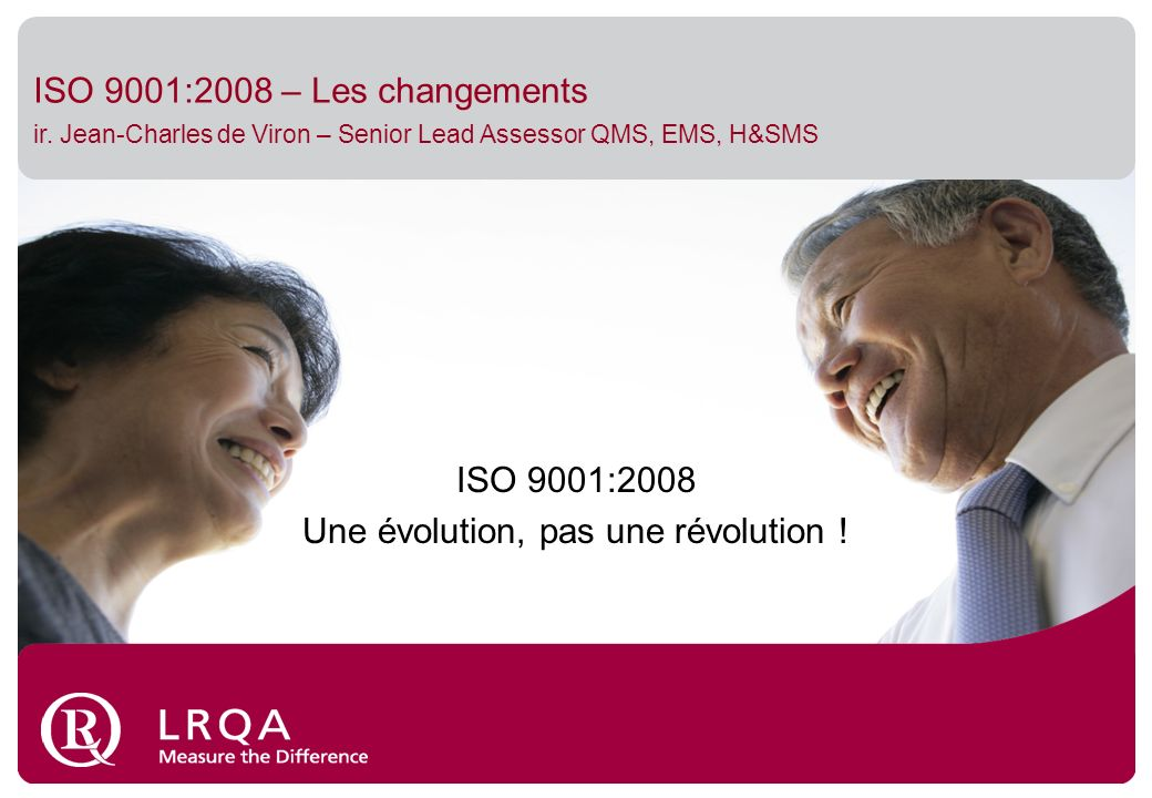 ISO 9001:2008 – Les changements ir.