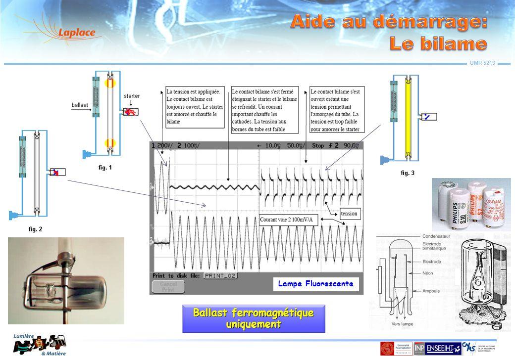 UMR 5213 Lampe Fluorescente Ballast ferromagnétique uniquement