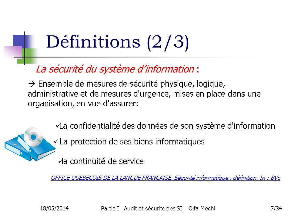 7/34 Ensemble de mesures de sécurité physique, logique, administrative et de mesures d'urgence, mises en place dans une organisation, en vue d'assurer