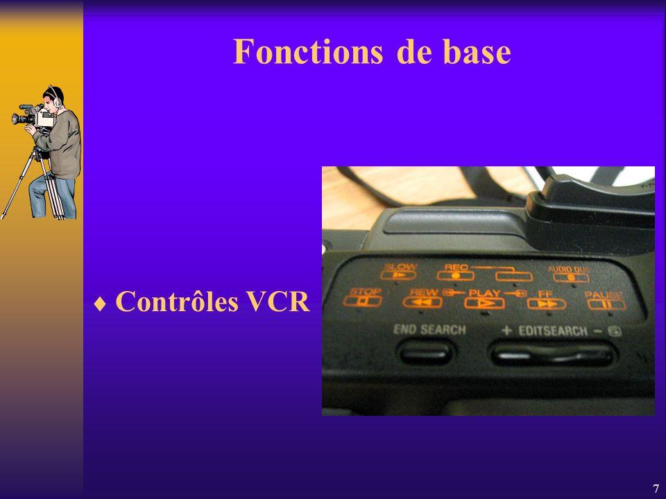 7 Fonctions de base Contrôles VCR