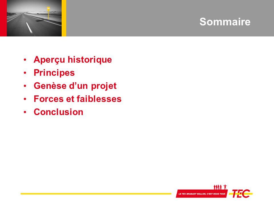 Sommaire Aperçu historique Principes Genèse dun projet Forces et faiblesses Conclusion