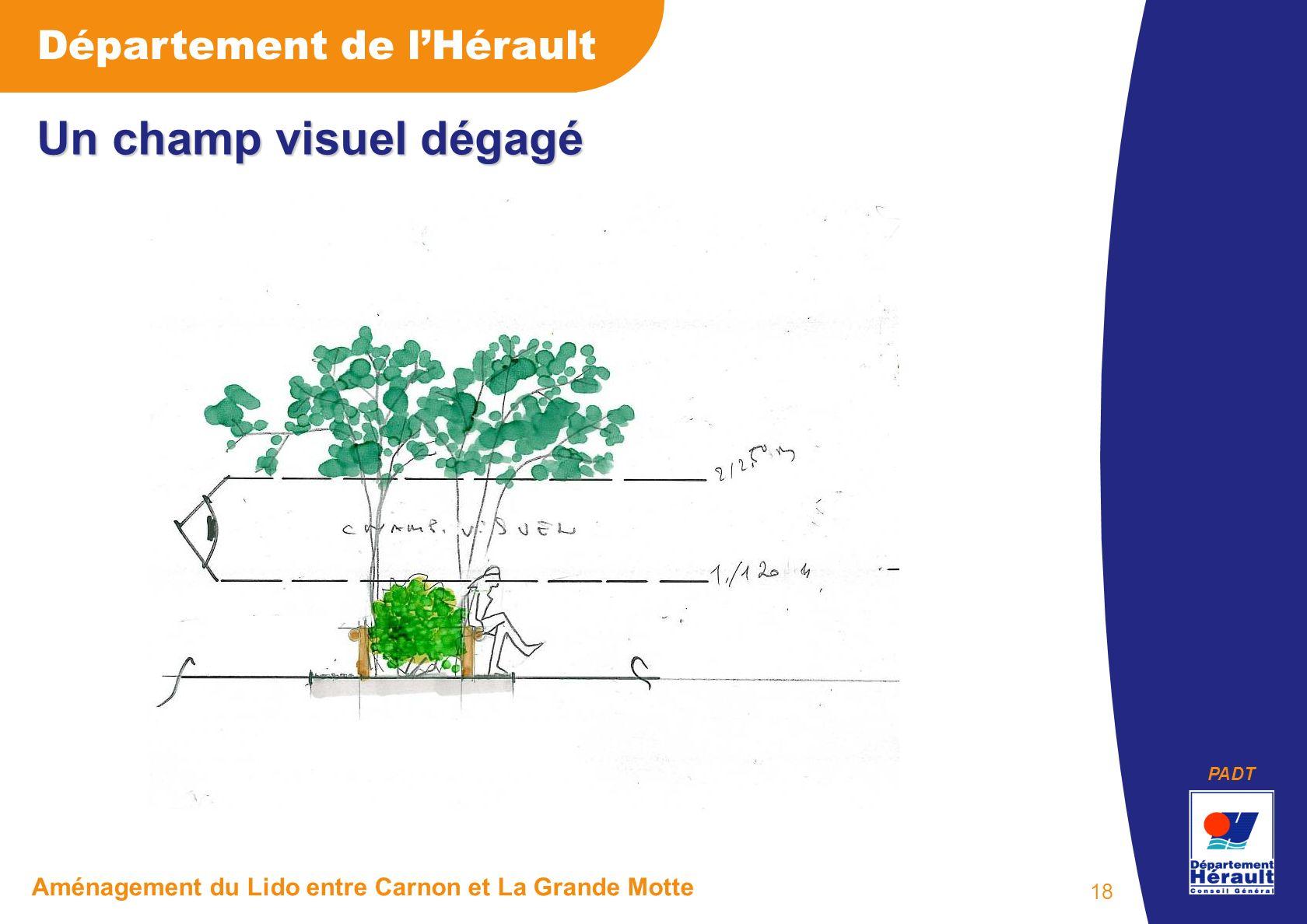 PADT Département de lHérault Aménagement du Lido entre Carnon et La Grande Motte 18 Un champ visuel dégagé