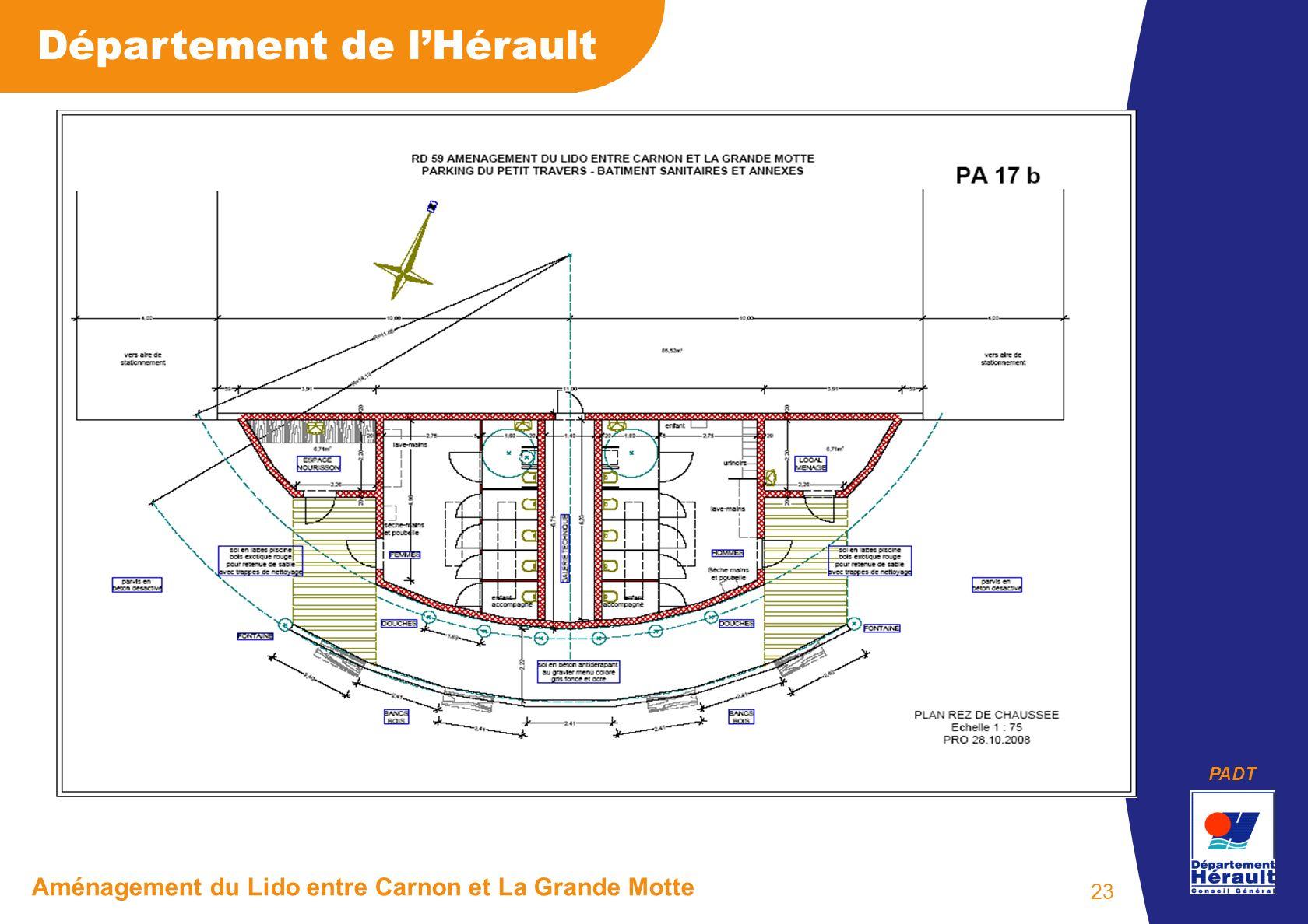 PADT Département de lHérault Aménagement du Lido entre Carnon et La Grande Motte 23