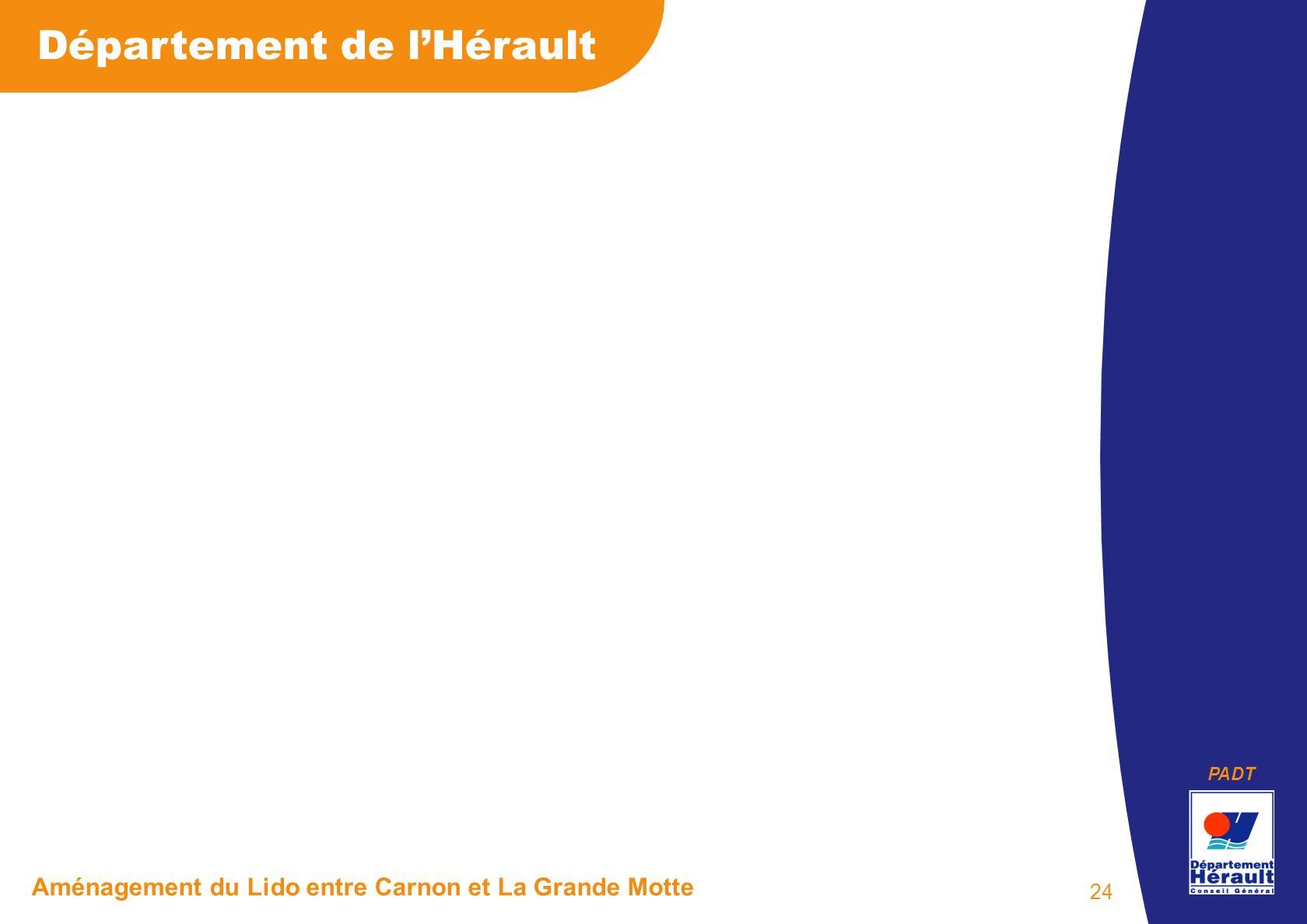 PADT Département de lHérault Aménagement du Lido entre Carnon et La Grande Motte 24