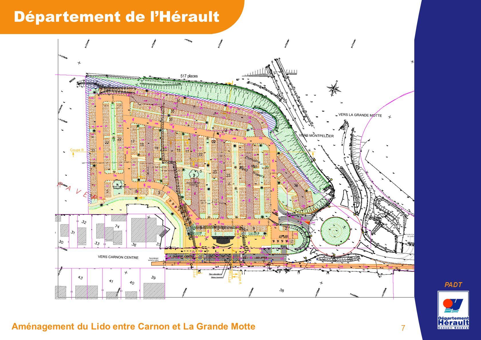 PADT Département de lHérault Aménagement du Lido entre Carnon et La Grande Motte 7