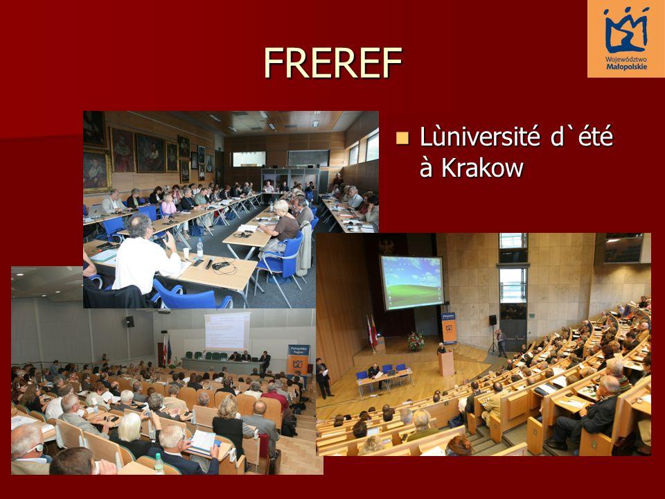 FREREF Lùniversité d`été à Krakow Lùniversité d`été à Krakow