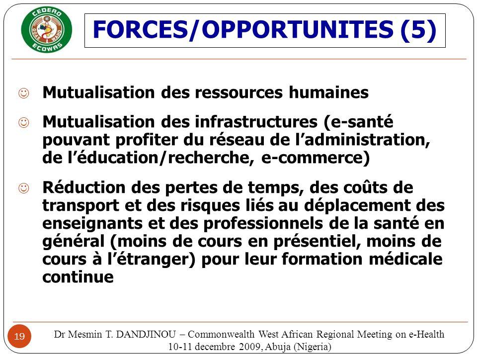 19 Mutualisation des ressources humaines Mutualisation des infrastructures (e-santé pouvant profiter du réseau de ladministration, de léducation/reche