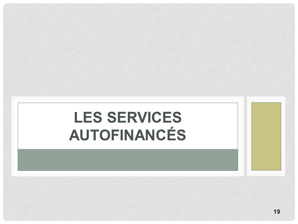 19 LES SERVICES AUTOFINANCÉS