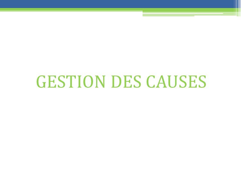 GESTION DES CAUSES