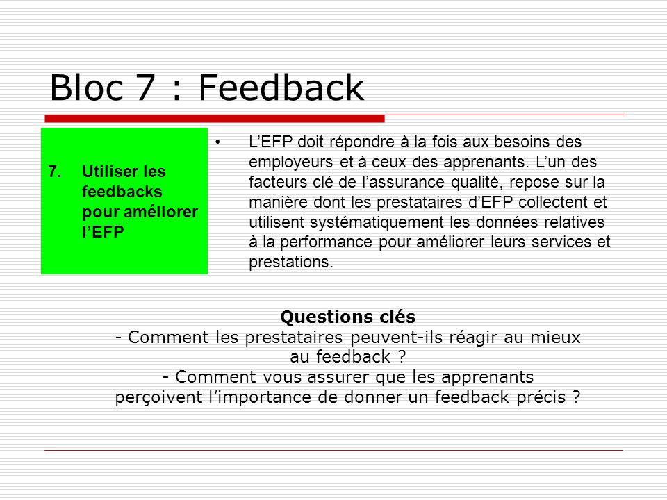 Bloc 7 : Feedback 7.