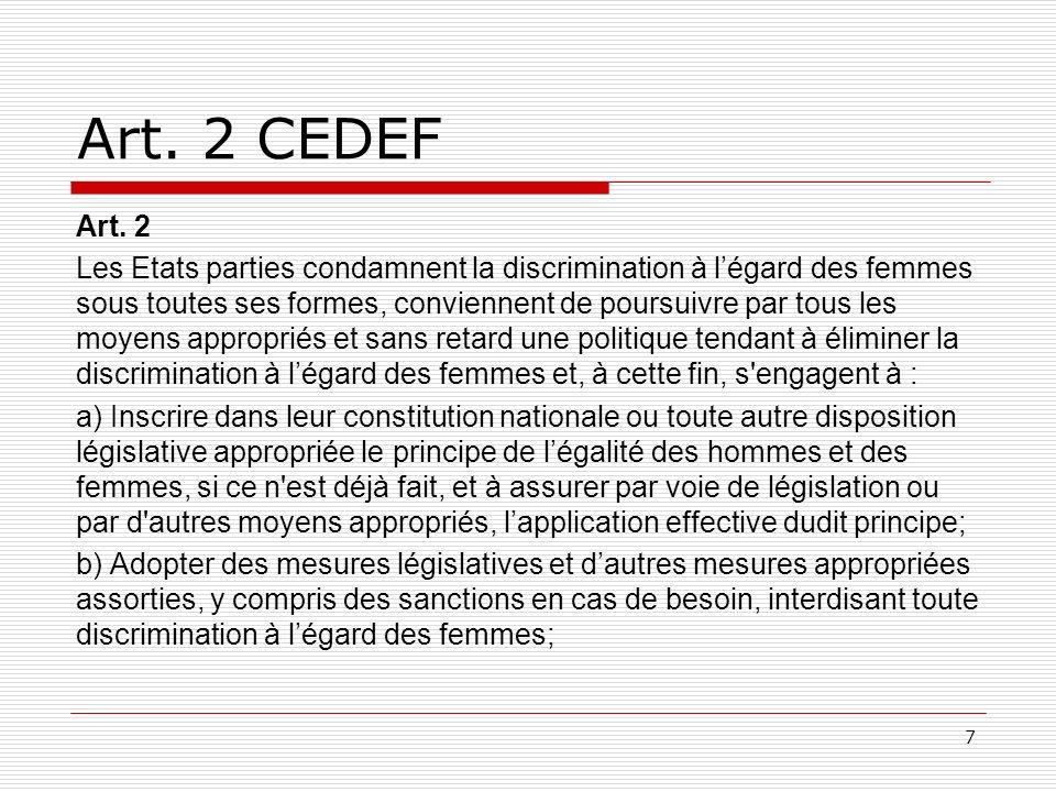 CEDEF-Observations finales à la Suisse Comité CEDEF du 7 août 2009: 22.