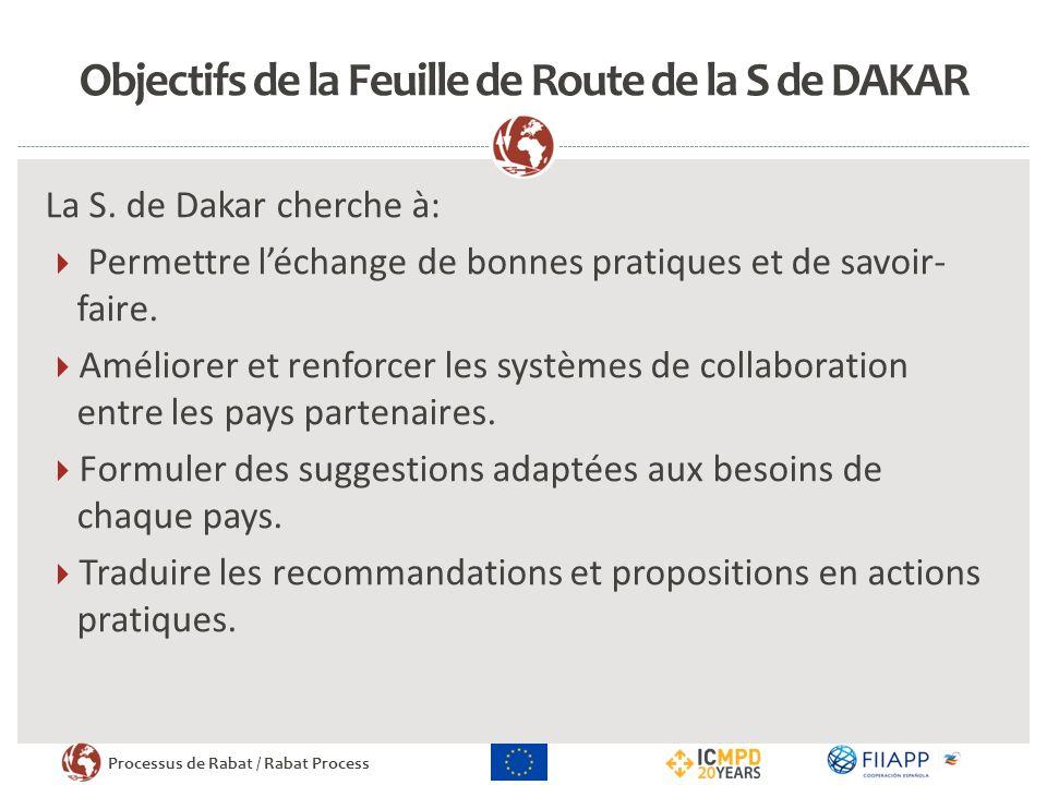 Processus de Rabat / Rabat Process Objectifs de la Feuille de Route de la S de DAKAR La S. de Dakar cherche à: Permettre léchange de bonnes pratiques