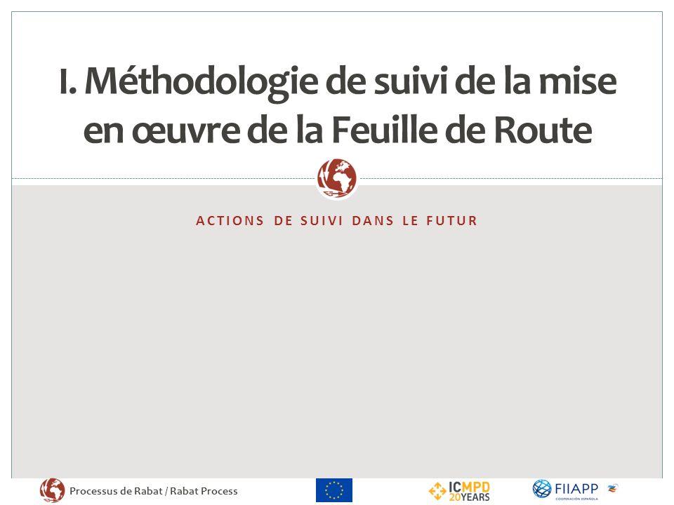 Processus de Rabat / Rabat Process ACTIONS DE SUIVI DANS LE FUTUR I. Méthodologie de suivi de la mise en œuvre de la Feuille de Route