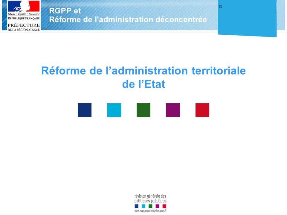Réforme de ladministration territoriale de lEtat