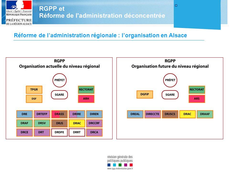 Réforme de ladministration régionale : lorganisation en Alsace Préfecture
