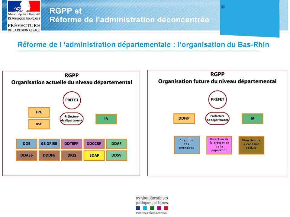 Réforme de l administration départementale : lorganisation du Bas-Rhin