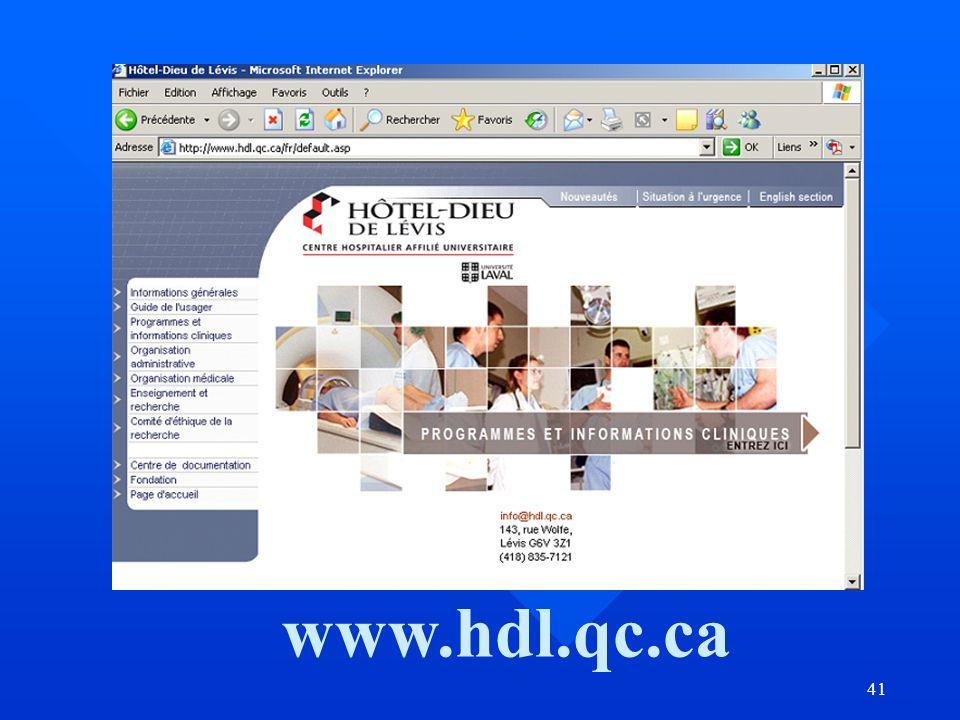 41 www.hdl.qc.ca