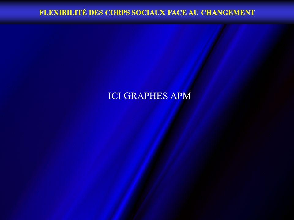 FLEXIBILITÉ DES CORPS SOCIAUX FACE AU CHANGEMENT ICI GRAPHES APM