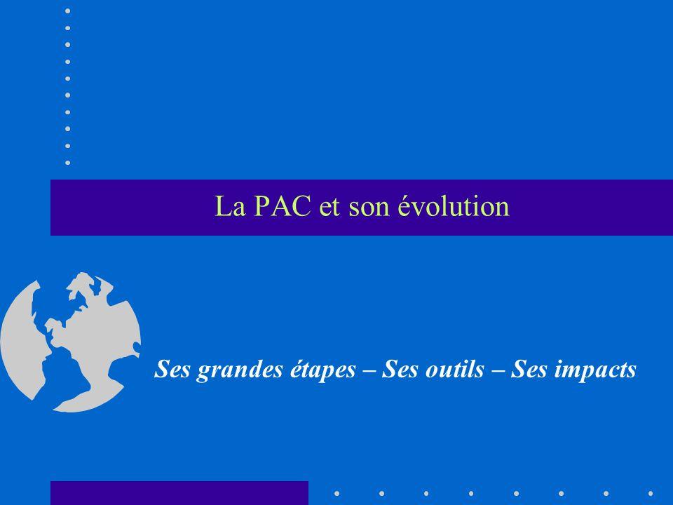 La PAC et son évolution Ses grandes étapes – Ses outils – Ses impacts