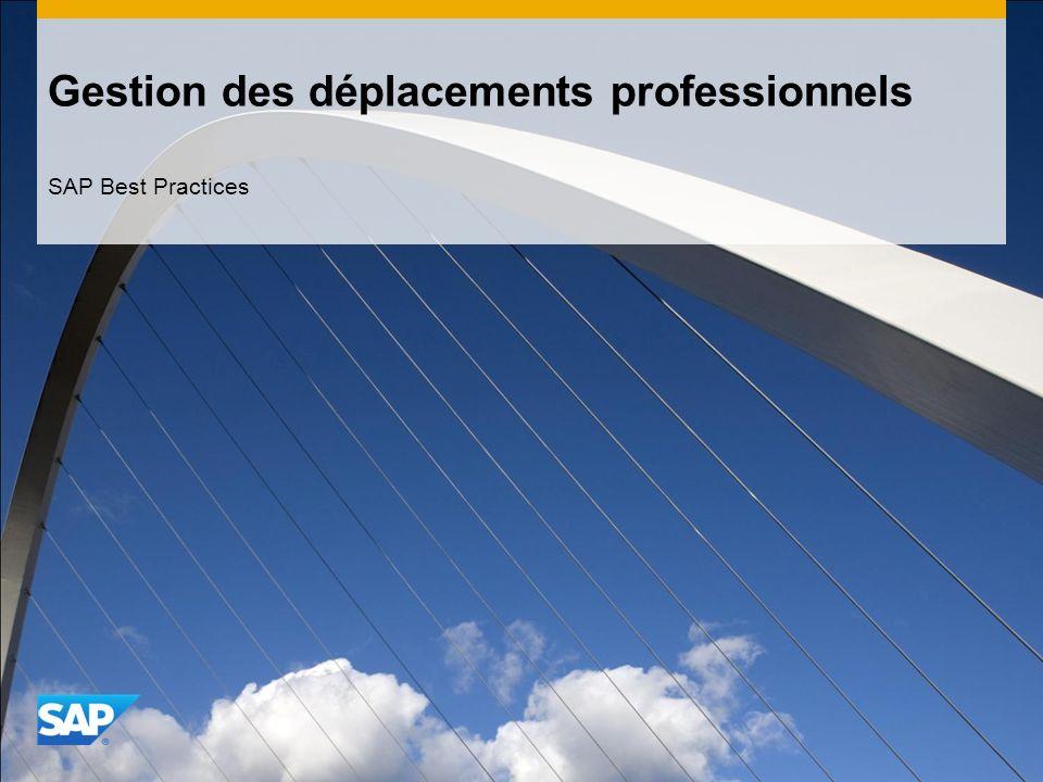Gestion des déplacements professionnels SAP Best Practices