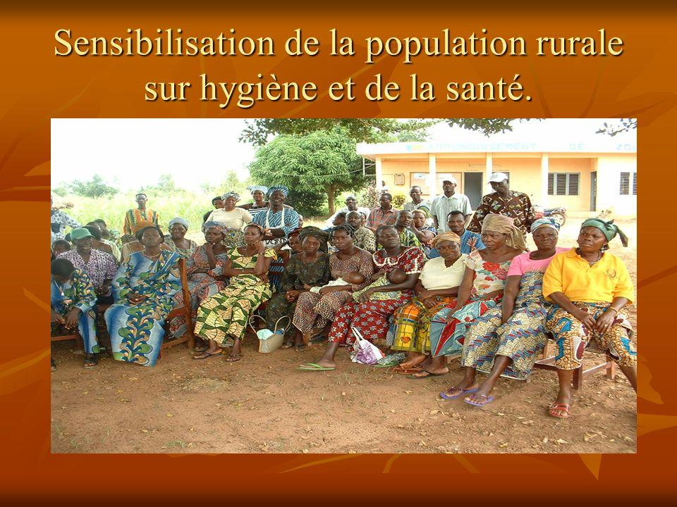 Sensibilisation de la population rurale sur hygiène et de la santé.