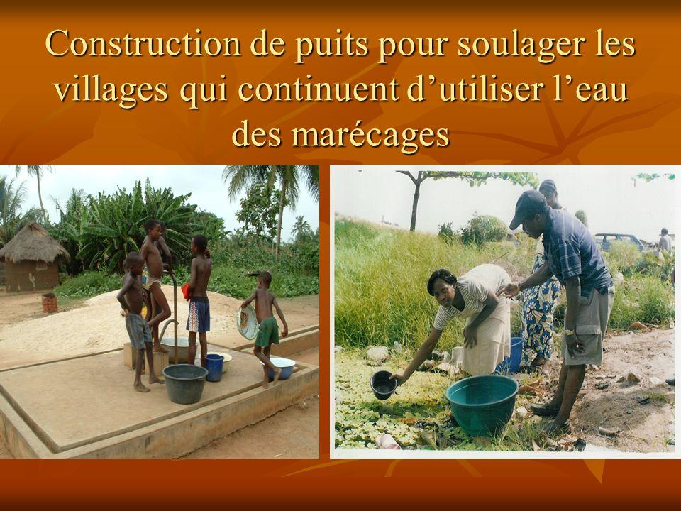 Construction de puits pour soulager les villages qui continuent dutiliser leau des marécages