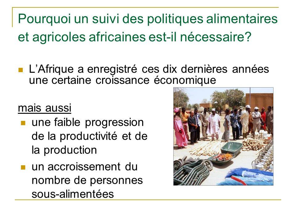 Pourquoi un suivi des politiques alimentaires et agricoles africaines est-il nécessaire.