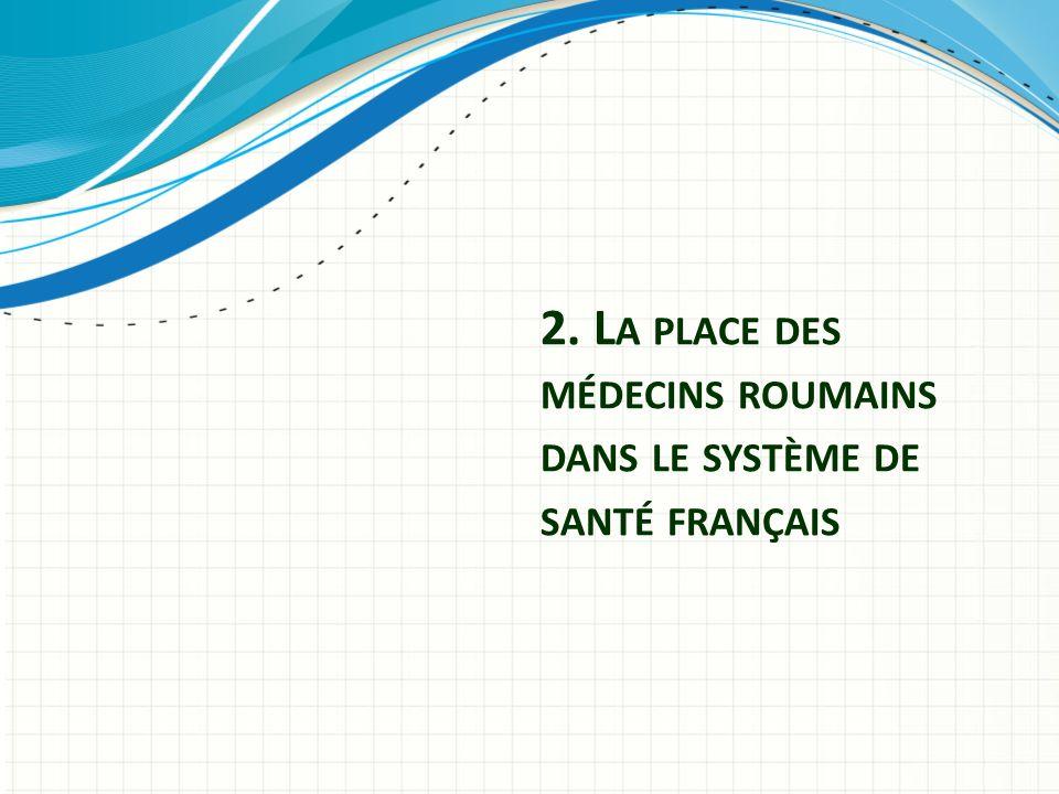 2. L A PLACE DES MÉDECINS ROUMAINS DANS LE SYSTÈME DE SANTÉ FRANÇAIS