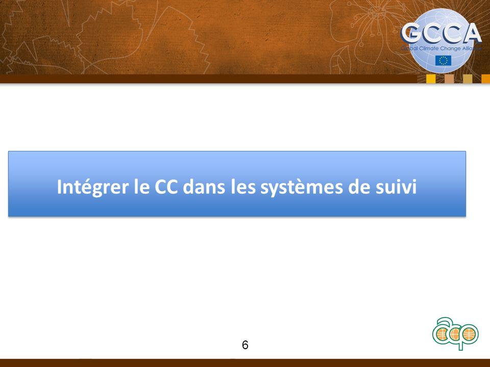Intégrer le CC dans les systèmes de suivi 6