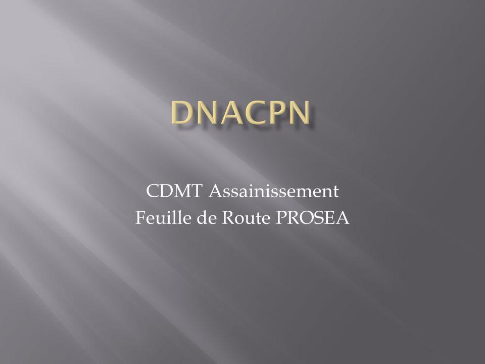 CDMT Assainissement Feuille de Route PROSEA