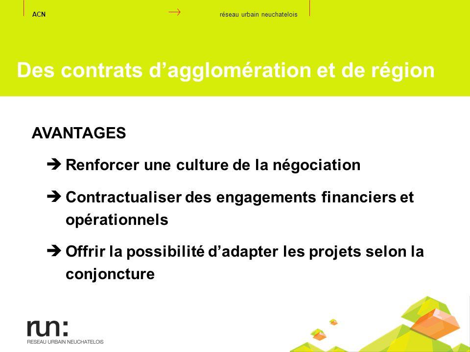AVANTAGES Renforcer une culture de la négociation Contractualiser des engagements financiers et opérationnels Offrir la possibilité dadapter les proje