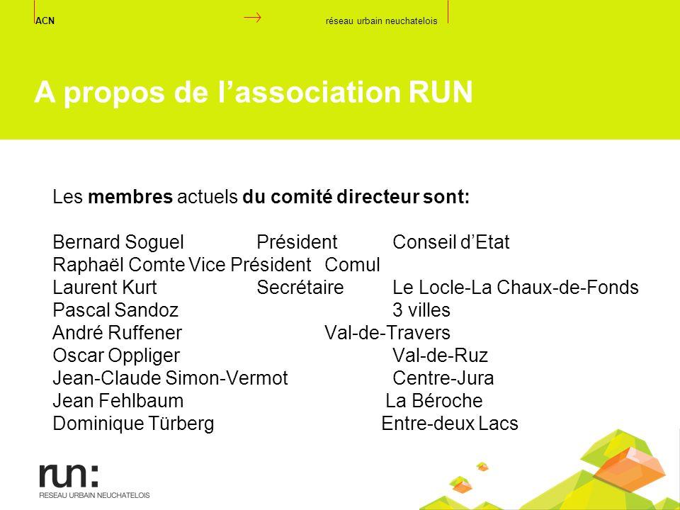 Les membres actuels du comité directeur sont: Bernard Soguel PrésidentConseil dEtat Raphaël ComteVice PrésidentComul Laurent KurtSecrétaireLe Locle-La